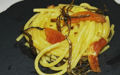Spaghetti, guanciale e spaccasassi