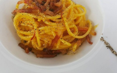 Carbonara e zafferano