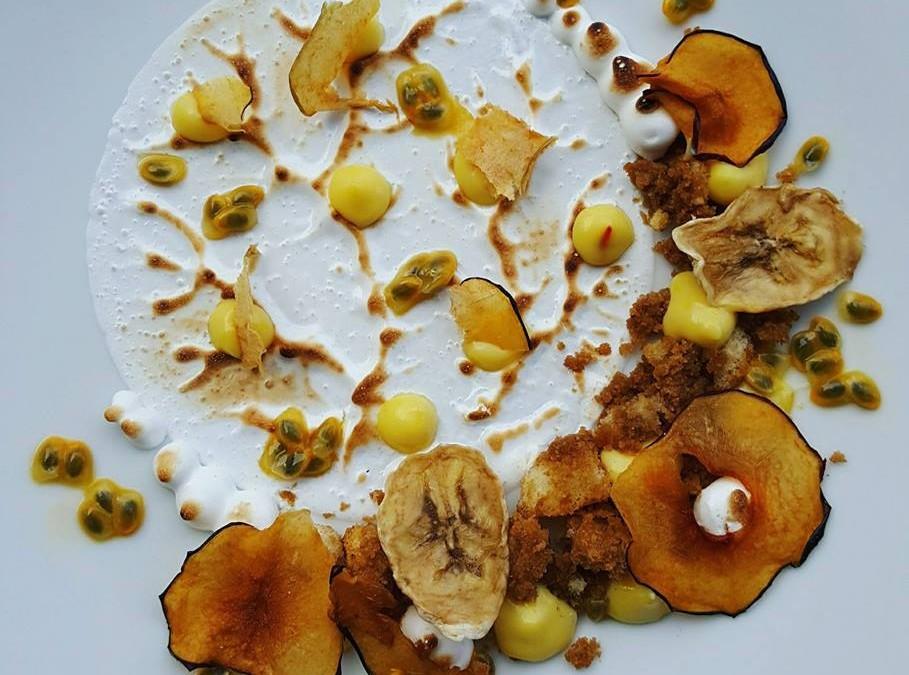Frutta essiccata e crema pasticcera allo zafferano